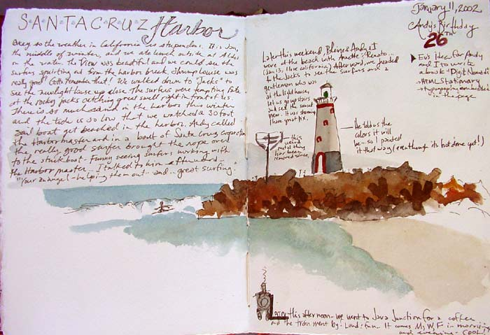 Illustrated Watercolor Journaling - Our Journals